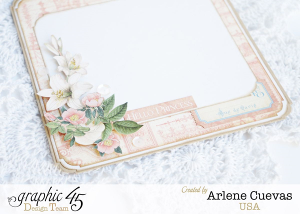 The inside of this beautiful Gilded Lily card by Arlene Cuevas #graphic45