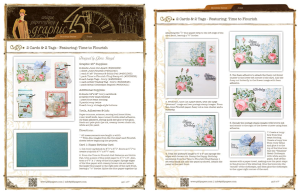 Click to get the Time to Flourish project sheet! #graphic45