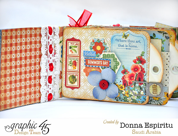 Donna's Home Sweet Home tag mini album & video tutorial #graphic45