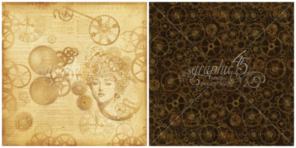 """""""Mechanical Mind"""" of Steampunk Debutante! This Deluxe Collector's Edition will be in stores in late August 2015 #graphic45 #sneakpeeks"""