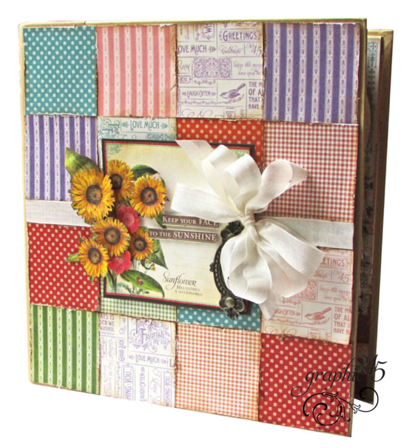 Try this Mixed Media Birthday Organizer Album with a free project sheet by Gloria Stengel of Graphic 45 #graphic45