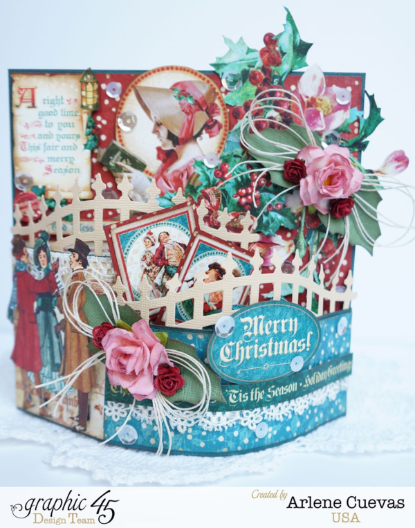 A Christmas Carol bendi card + tutorial by Arlene #graphic45