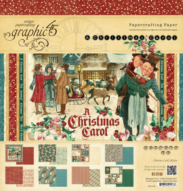 A Christmas Carol 12x12 Paper Pad. This new collection will be in stores in late August 2015 #graphic45 #sneakpeeks