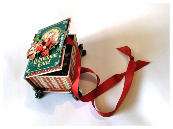 An altered ATC Book Box using A Christmas Carol from Diane's Workshop #graphic45 #sneakpeeks