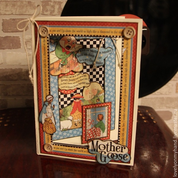 Mother Goose card by Elizaveta Belevskaya #graphic45