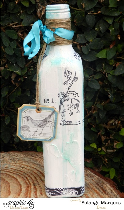 Altered Bottles by Solange Marques using Graphic 45 stamps and chipboard tags  (4)