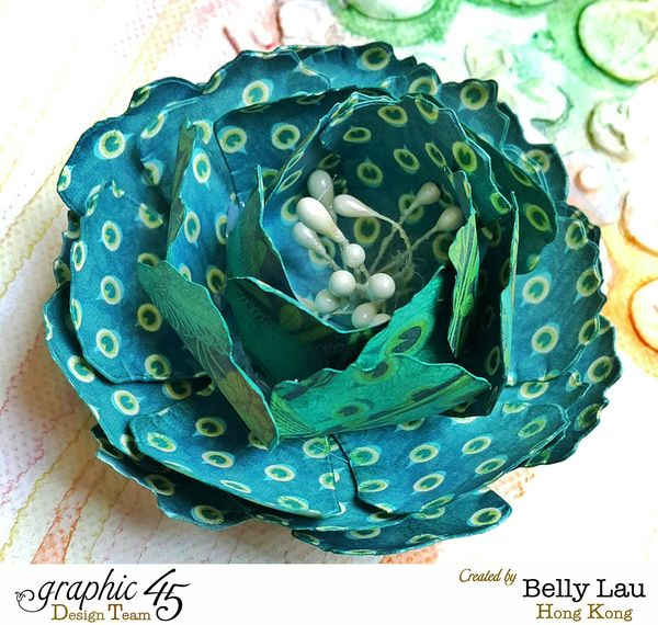 Mixed Media Canvas - Faber-Castell Blog Hop - Graphic 45 - Belly Lau - 17 of 25