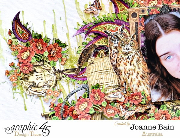 Rare Oddities layout by Joanne using Graphic 45 & Clearsnap #graphic45