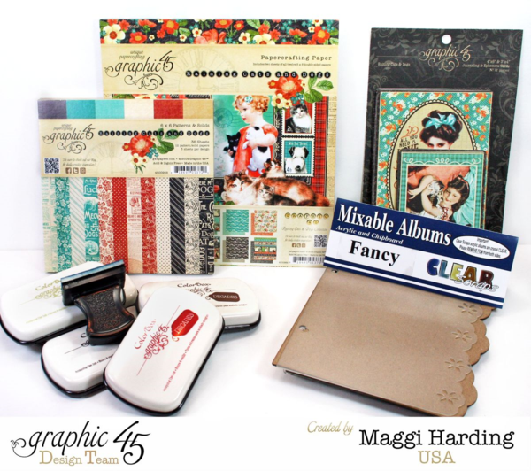 Travel mini, Raining Cats and Dogs, Maggi Harding, Graphic 45