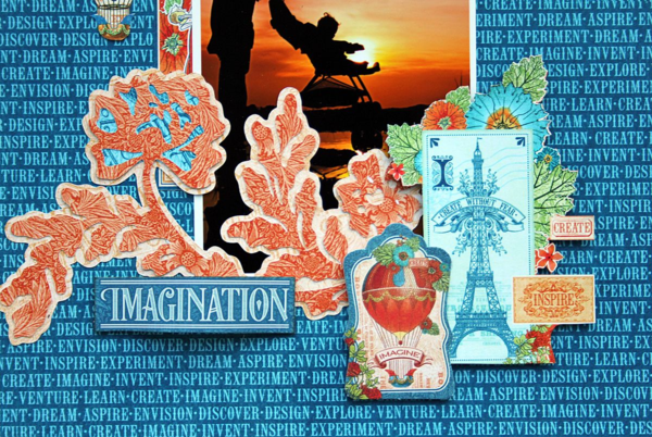 Imagination Layout, World's Fair, by Robin Shakoor, Product by Graphic 45