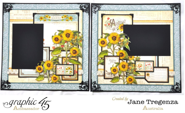 August Double Layout by Jane using Time to Flourish #graphic45