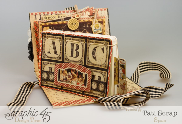 School mini Homework Station by Tati Scrap using An ABC Primer! Try the tutorial #graphic45