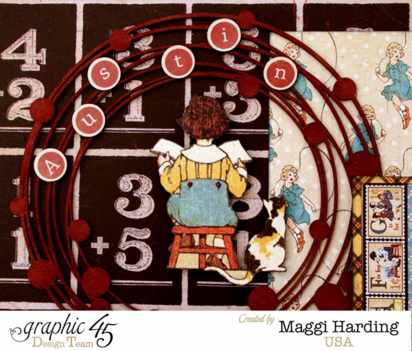 Back to School layout, ABC Primer, Maggi Harding, Graphic 45