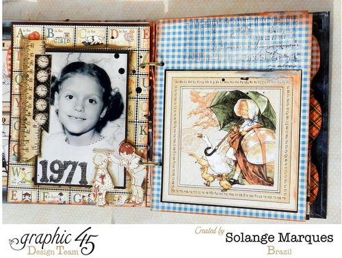 Mixed Media Album using Graphic 45 An ABC Primer collection 1 (1)