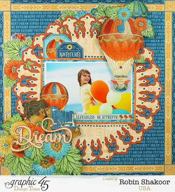 Dream Layout, Worlds Fair, by Robin Shakoor, Product by Graphic 45, Photo 1