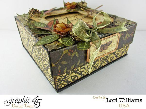 Lori Williams Botanicalbella Box Spellbinders designed for Graphic 45 close up one