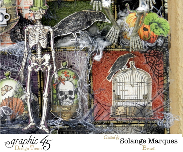 Halloween Configuration Box by Solange Marques. Graphic 45 Rare Oddities Collection