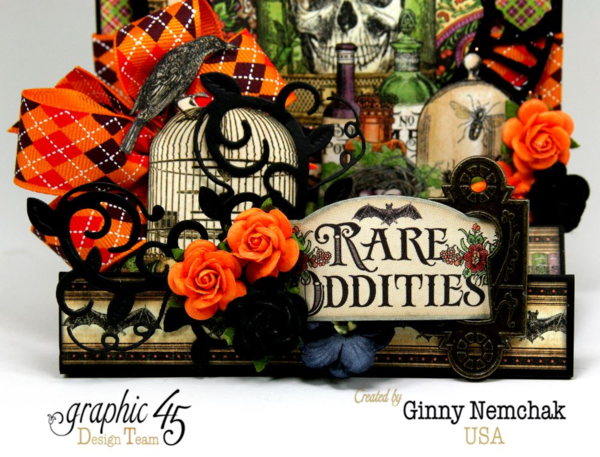 Rare Oddities Fancy Fold Card by Ginny Nemchak #graphic45