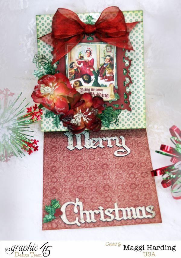 Christmas easel card, A Christmas Carol, Maggi Harding, Graphic 45 (1)
