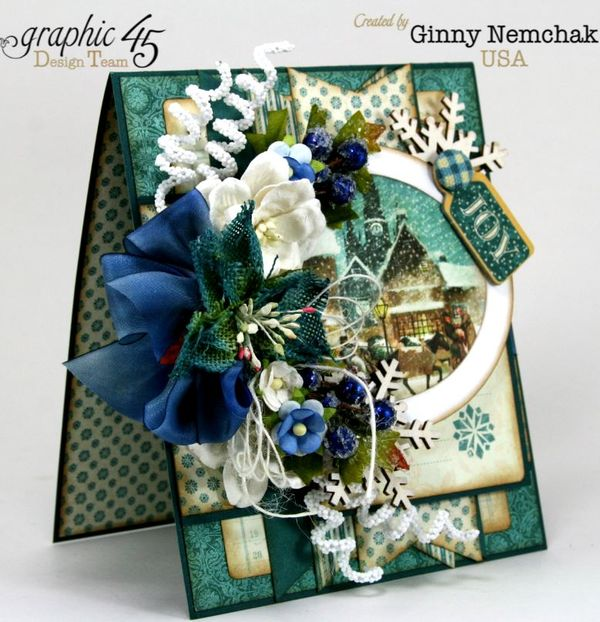 Blue Christmas Card Graphic 45 2