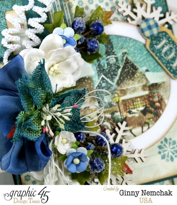 Blue Christmas Card Graphic 45 6