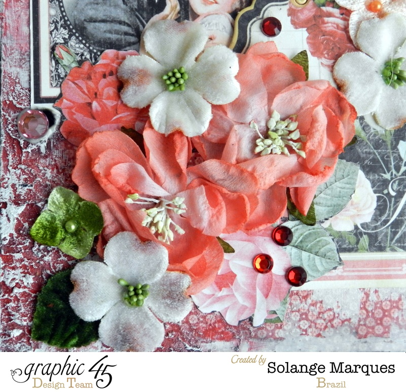 Mini drawer by Solange Marques using Graphic 45 Mon Amour collection and Petaloo flowers 8