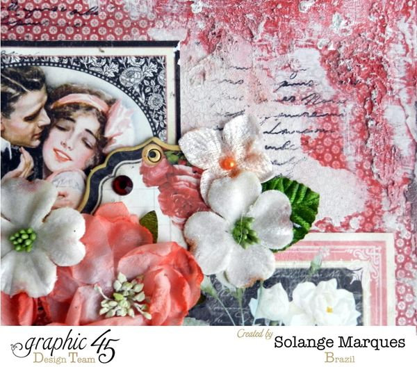 Mini drawer by Solange Marques using Graphic 45 Mon Amour collection and Petaloo flowers 1