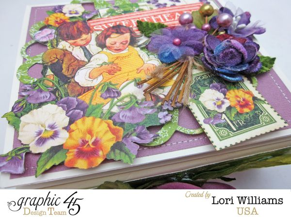 Easel Box Lori Williamd designing for Graphic 45 using Children's Hour Collection Petaloo Hop
