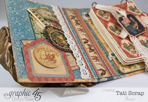 Tati, Recipe Album, French Country, Product by Graphic 45, Photo 12