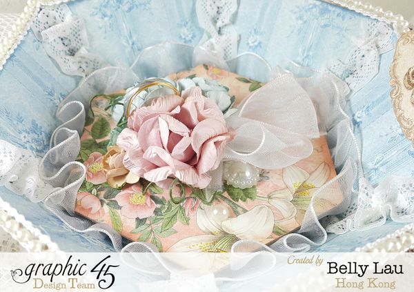 Diamond Mini Album Gift Music Box - Graphic 45 - Gilded Lily - Belly Lau - Papercraft Buffet - Photo 11 - Tutorial