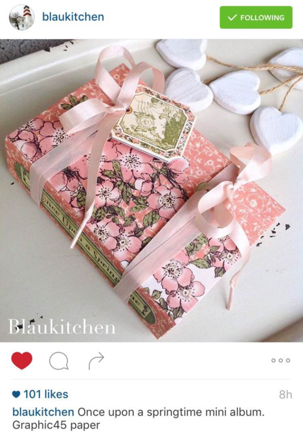 Once Upon a Springtime album by Instagram user blaukitchen #graphic45