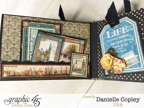 Cityscaped Mini Album, Cityscapes, Danielle Copley, Graphic 45, photo 2