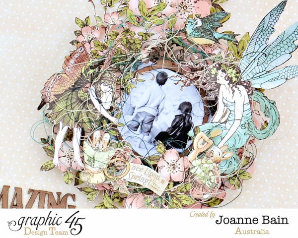 Once Upon a Springtime layout by Joanne Bain #graphic45