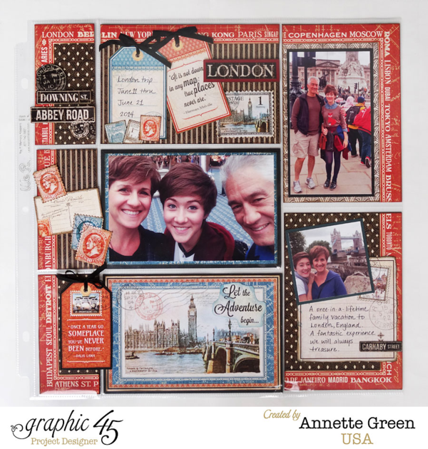 Cityscapes pocket page layout by Annette #graphic45