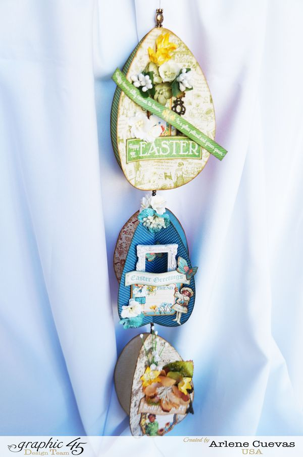 3D Easter Egg Hanging Decor, Children's Hour, Time to Flourish, Arlene Cuevas, Product by Graphic 45, Photo1