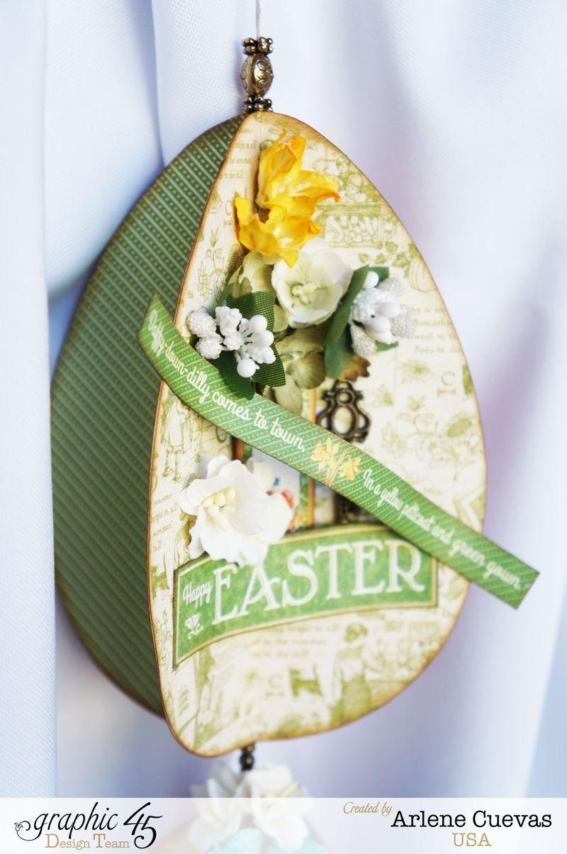 3D Easter Egg Hanging Decor, Children's Hour, Time to Flourish, Arlene Cuevas, Product by Graphic 45, Photo4