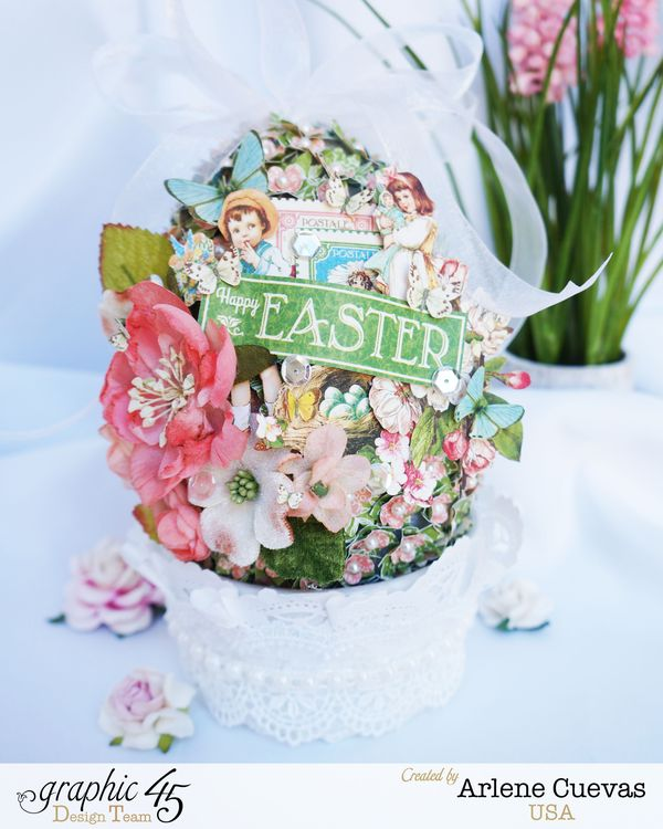 Altered Easter Egg, Children's Hour, Arlene Cuevas, Product by Graphic 45, Photo1