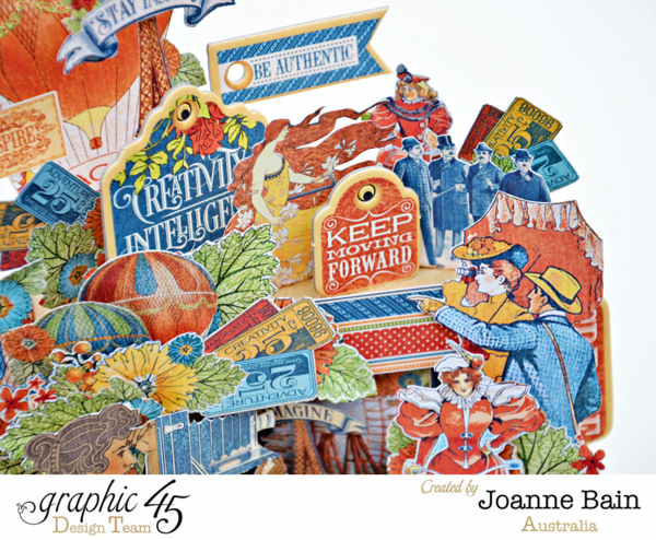 Joanne's incredible altered Small Matchbook Box using World's Fair! So inspiring! #graphic45