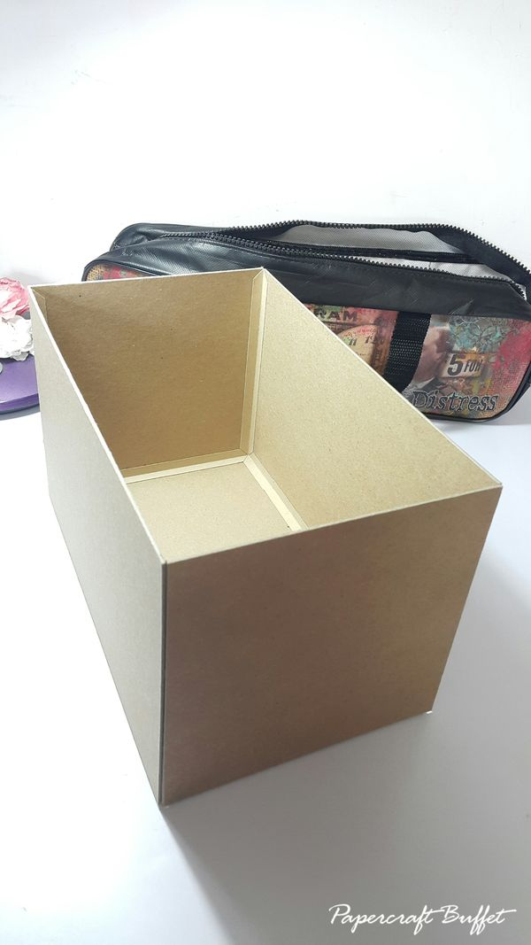 Stamp Storage Box - Graphic 45 - Mon Amour - May Arts Blog Hop - Belly Lau - Tutorial 2