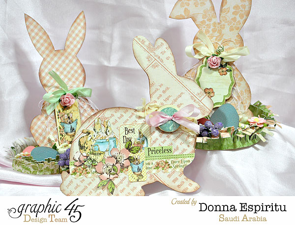 Easter-bunny-decorations,-Once Upon A Springtime,by-Donna-Espiritu,Product-by-Graphic-45-01a