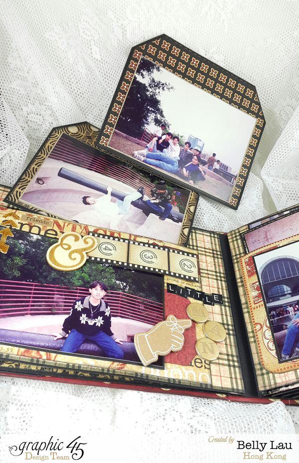 When He Was Young Album - Graphic 45 - Communique - Belly Lau - Papercraft Buffet - Photo 1 - Tutorial