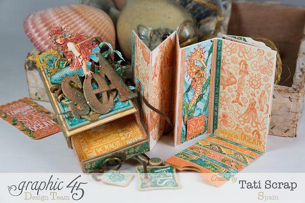 Tati,Voyage Beneath the Sea, Mini Album in a Matchbox , Product by Graphic 45, Photo 1