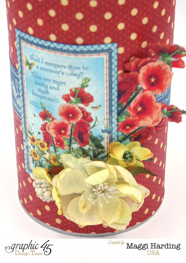 Recycled cookie tin, DIY Craft Paper, Maggi Harding, tutorial, Graphic 45 (5)
