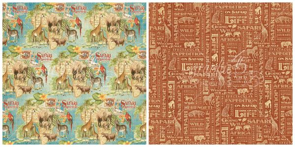 4 - Creatures Great and Small from Safari Adventure, a new collection from Graphic 45