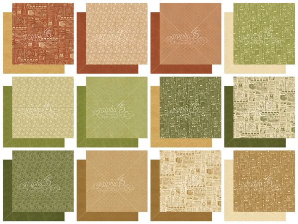 The pages in our 12x12 Safari Adventure Patterns & Solids Paper Pad #graphic45 #sneakpeeks