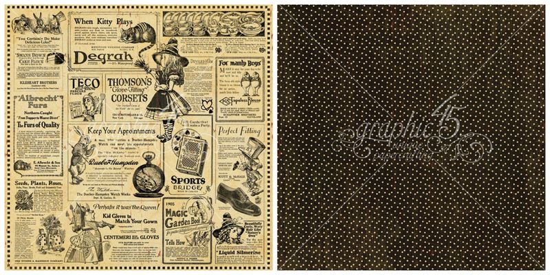 4 - Wonderland Classifieds from Hallowe'en in Wonderland, our new Deluxe Collector's Edition #graphic45