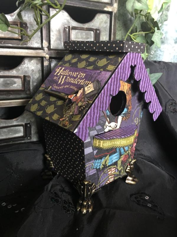 Hallowe'en in Wonderland birdhouse from Diane's workshop #graphic45