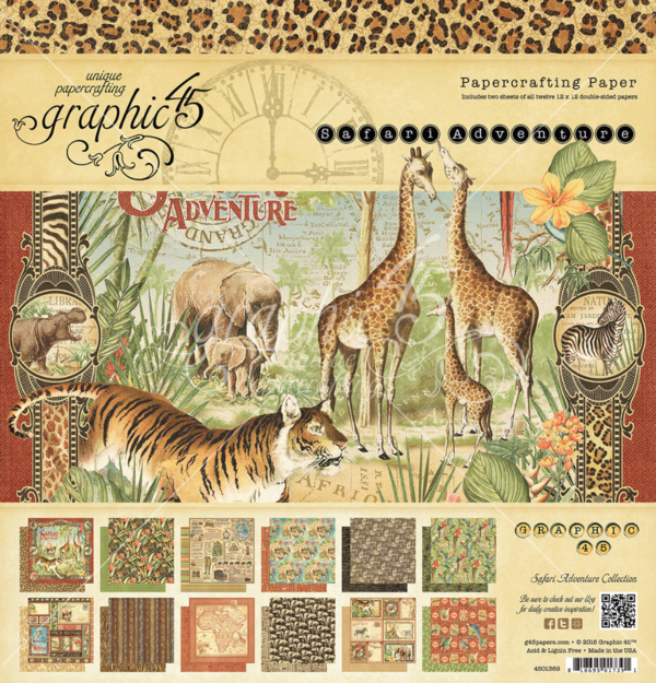 Safari Adventure 12x12 Paper Pad #graphic45