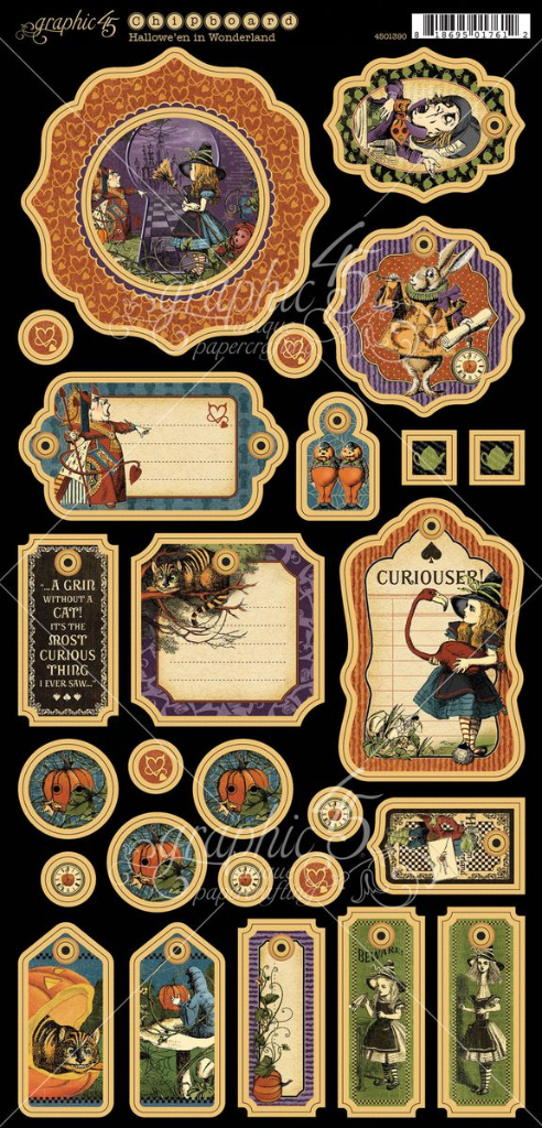 Hallowe'en in Wonderland chipboard #graphic45