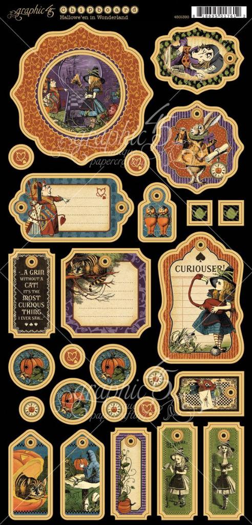 Hallowe'en in Wonderland chipboard #graphic45